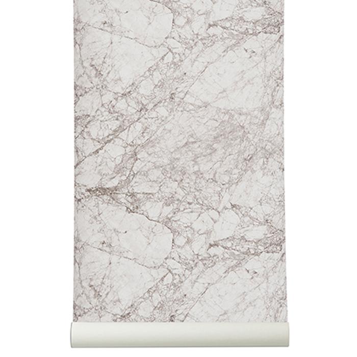Image of Ferm Living-Marble Tapete, Grau