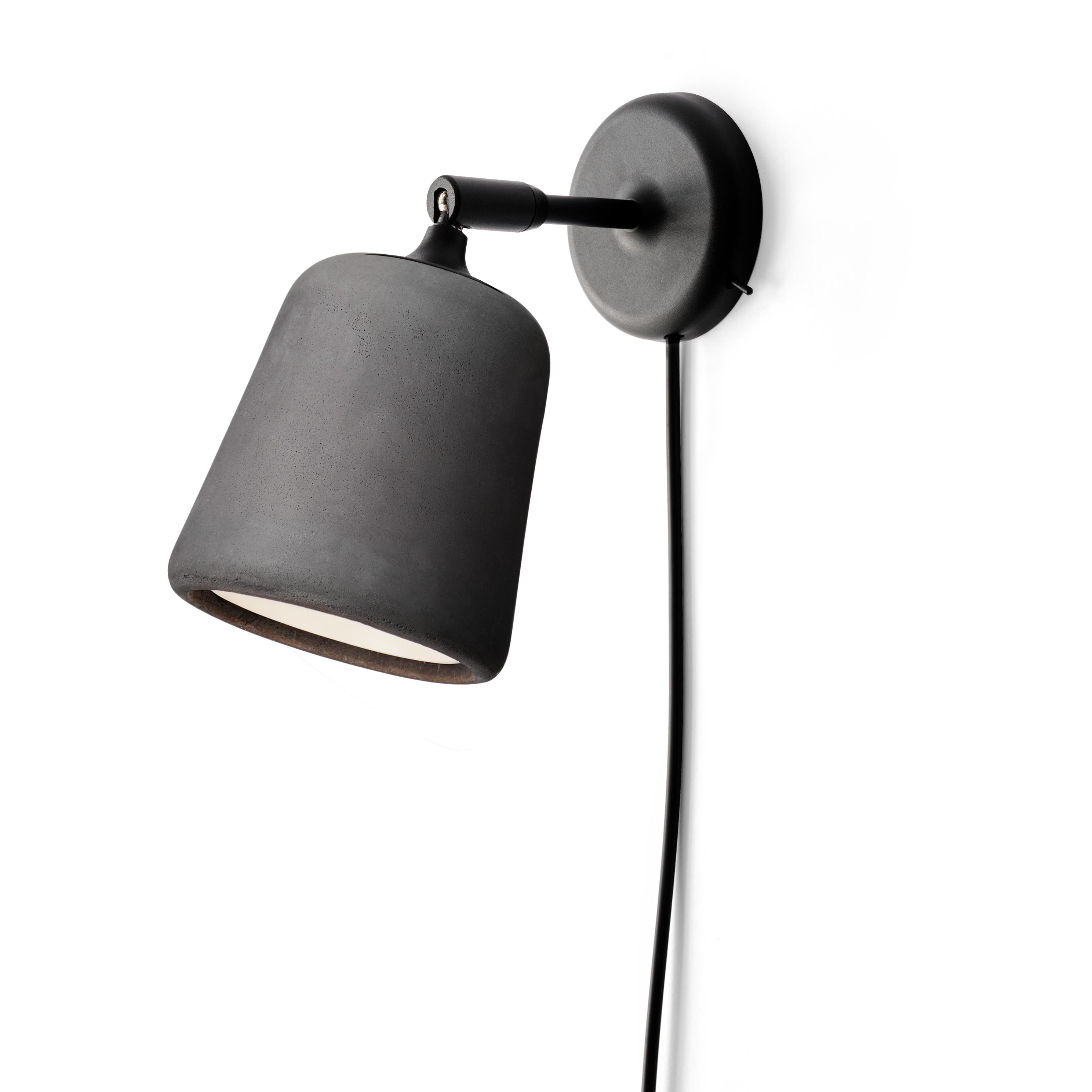 Material Vägglampa, Mörkgrå Betong