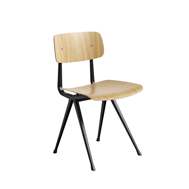 Result Chair Stol, Klarlackad Ek/Svart