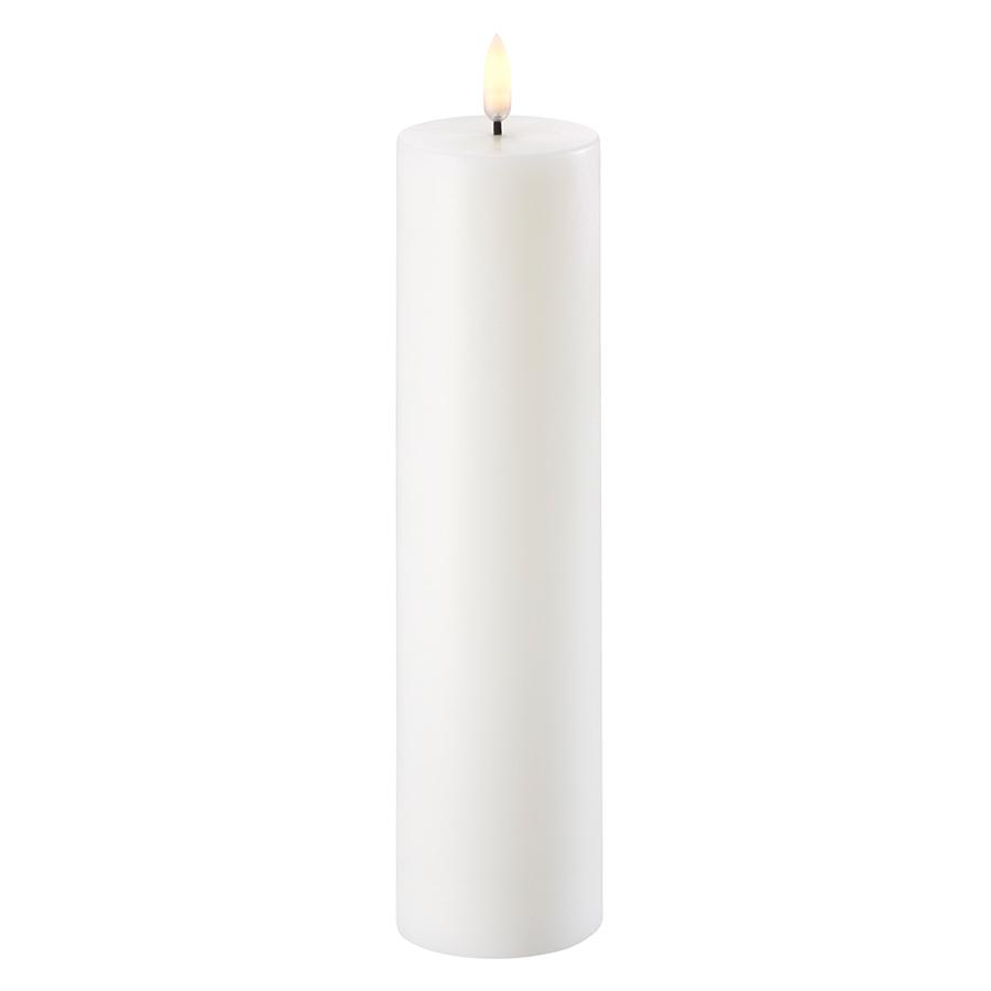 Blockljus Led Nordic White, 5,8 x 25 cm