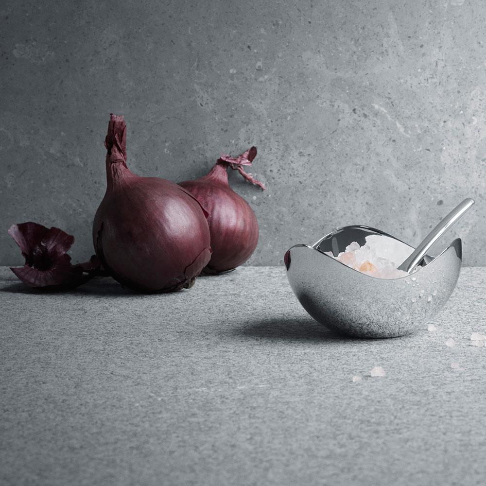 Folkekære Bloom Salt Cellar with Spoon - Georg Jensen @ RoyalDesign MC-36