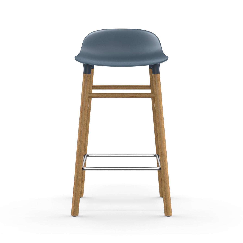 Form Barstol Ekben, 65cm, Blå