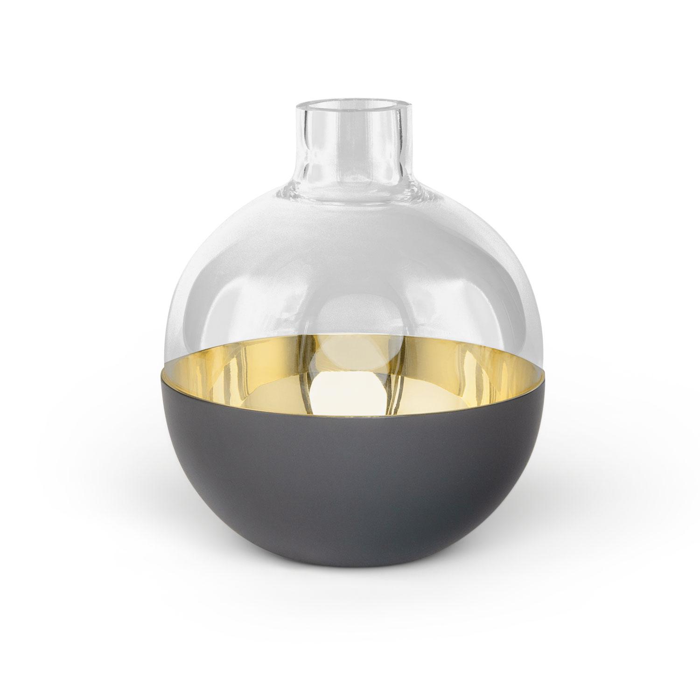 Pomme - Liten Mörkgrå/Glas