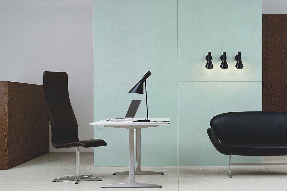 Fasjonable AJ Vegglampe, Sort - Louis Poulsen @ RoyalDesign.no VR-45
