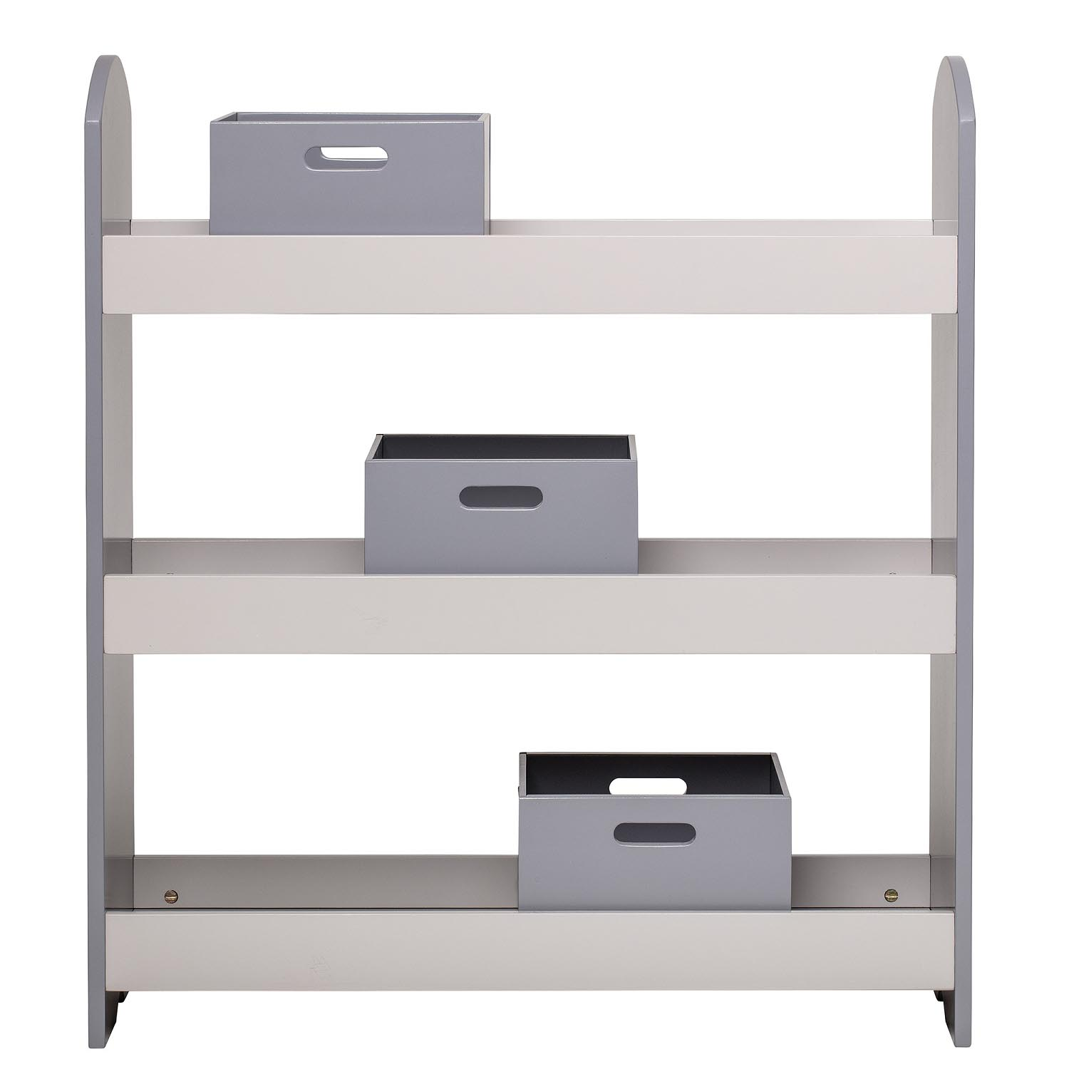 Bookcase With Drawers Grey