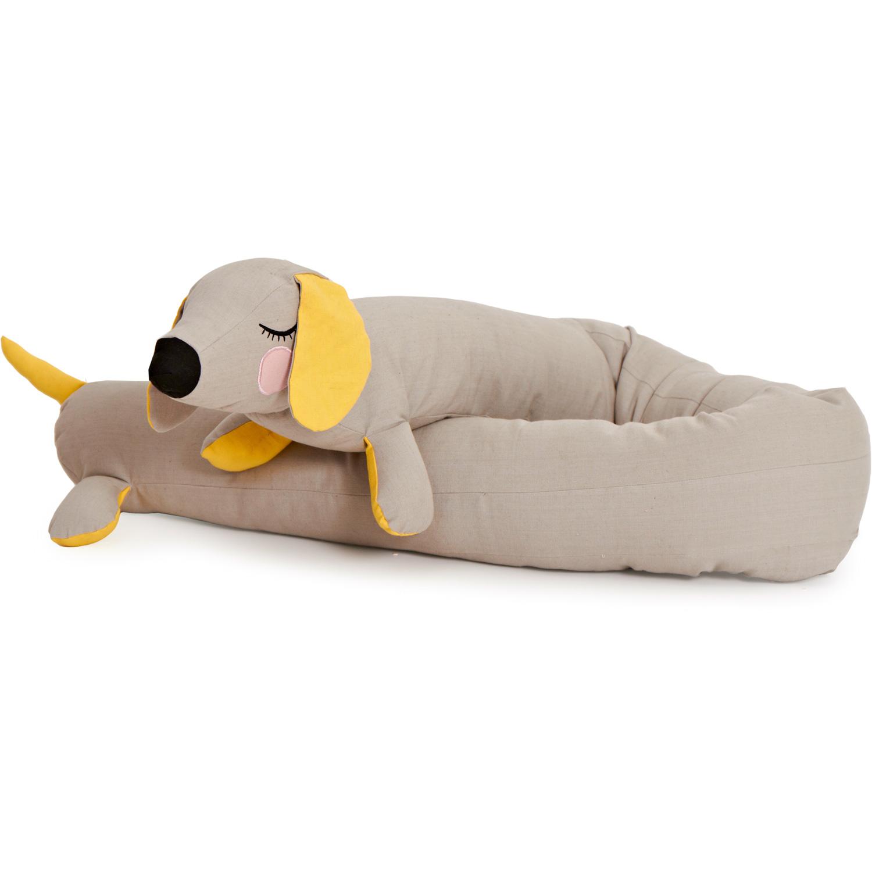 Lazy Long Dog Nackkudde, Grå