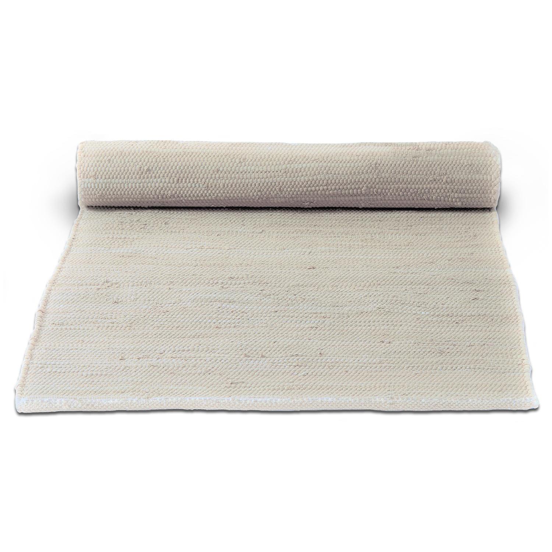 Bilde av Rug Solid-Cotton Gulvteppe 140x200cm, Desert White