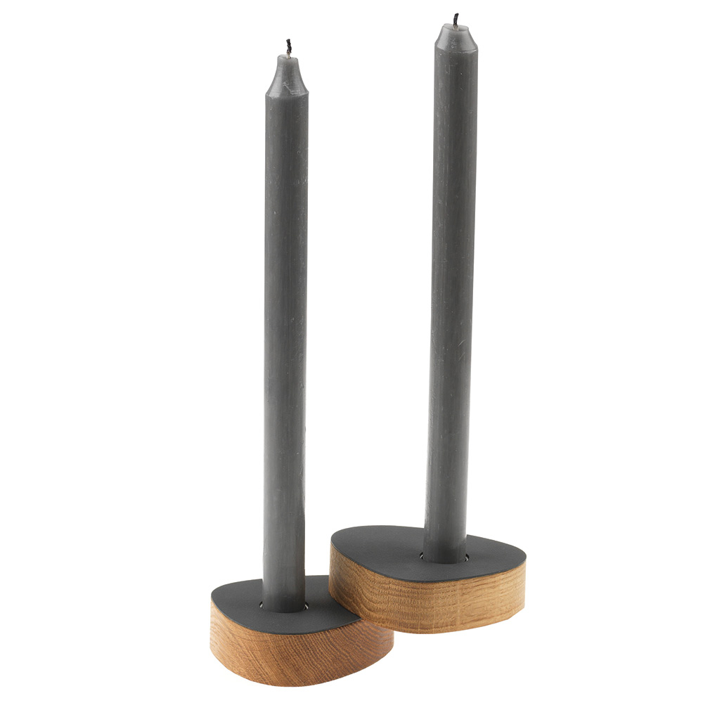 Curve Ljusstake 2-Pack, Anthracite