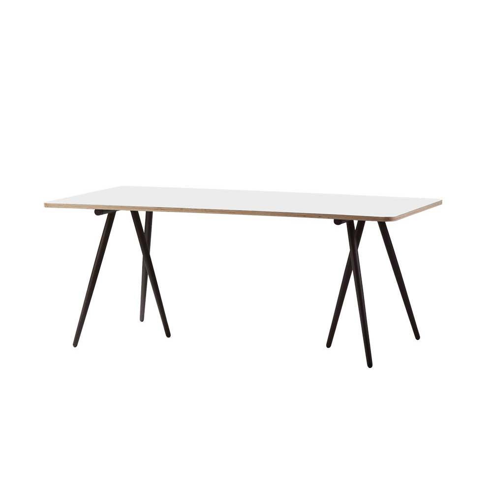 turn esstisch 90x180 cm weiss grau braun cane line. Black Bedroom Furniture Sets. Home Design Ideas