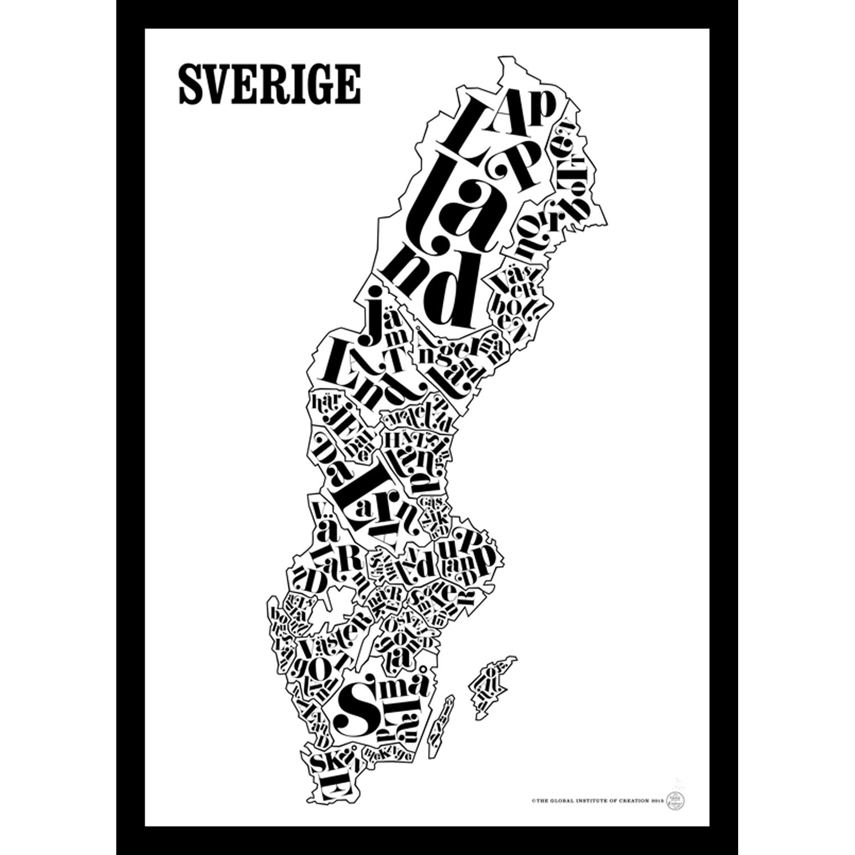 Bilde av TGIOC-Sverigekart Poster
