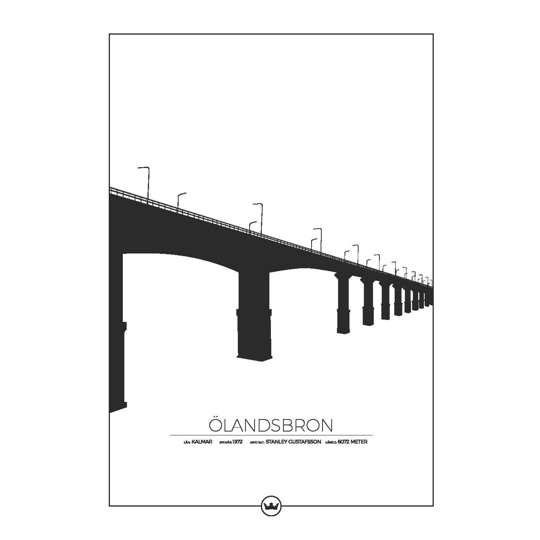 Ölandsbron Kalmar/Öland Poster 50x70cm