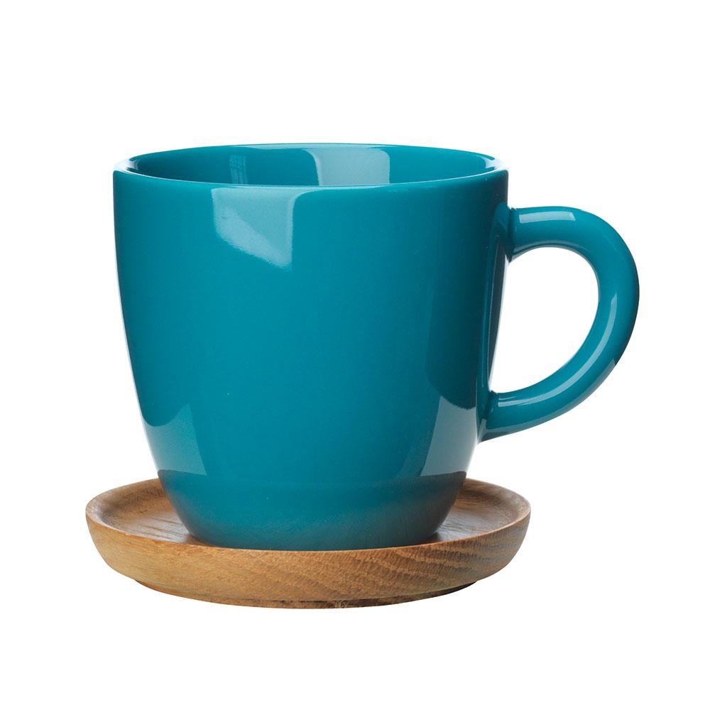 Kaffekrus Med Treskål, 33 cl - Höganäs @ RoyalDesign.no