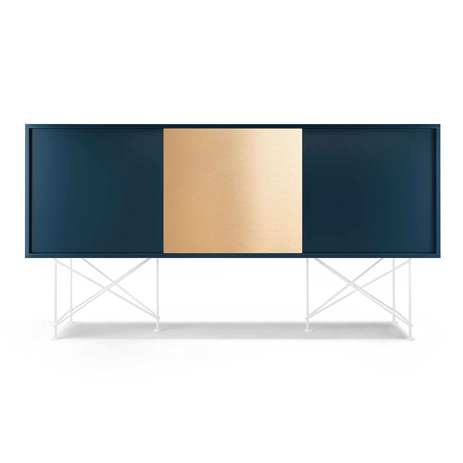 Decotique-Vogue Sideboard 180H, Antracit/2A1B/Messing
