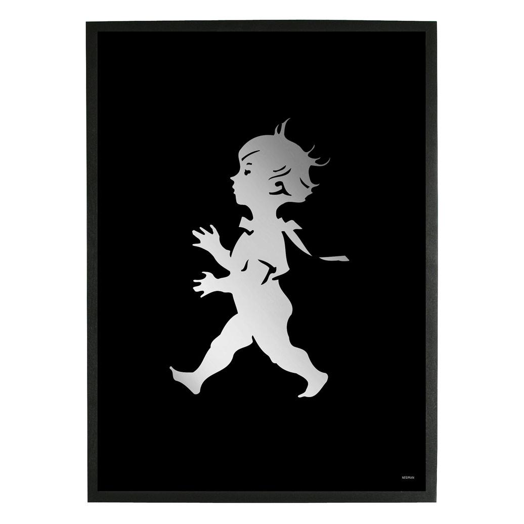 Solstickan Poster 50x70 cm, Silver/Svart