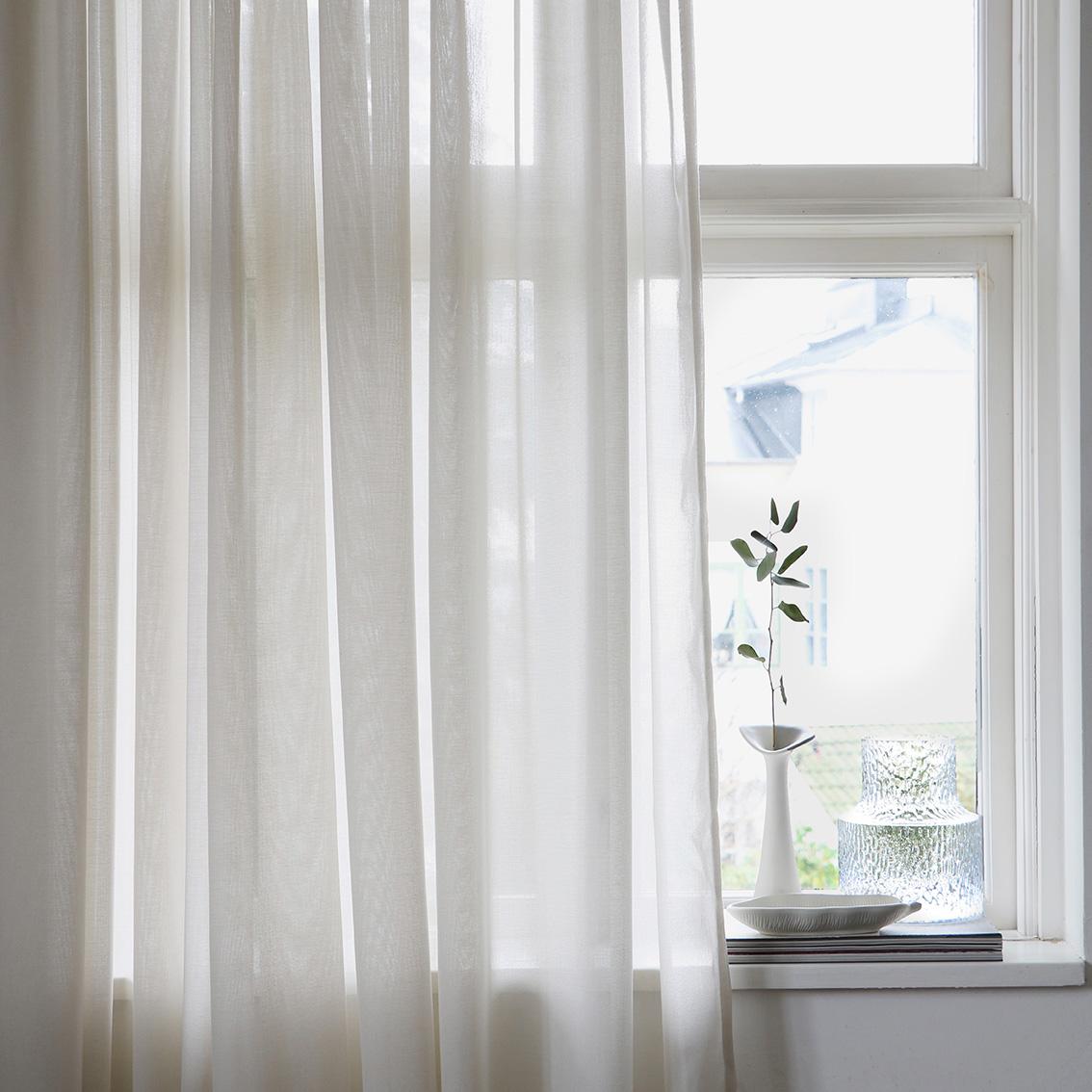 Lyx Hotellvoile Gardin 290x250 cm, Natur
