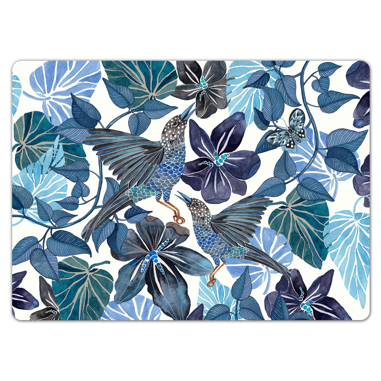 Blues Pöytätabletti 30x40 cm 4-pakkaus, Sininen, Nadja Wedin Design