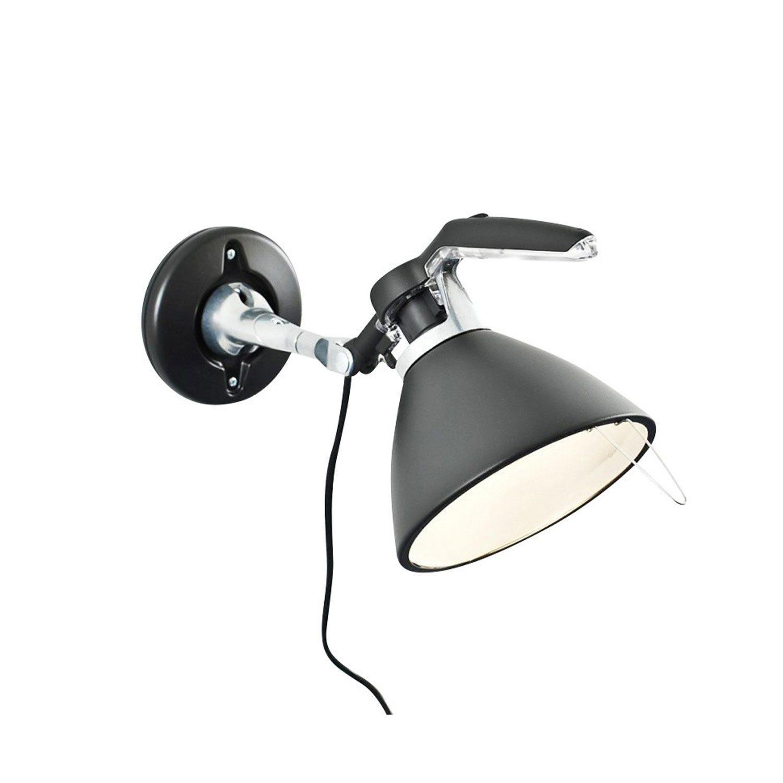 Fortebraccio Spot 100W Vägglampa, Svart
