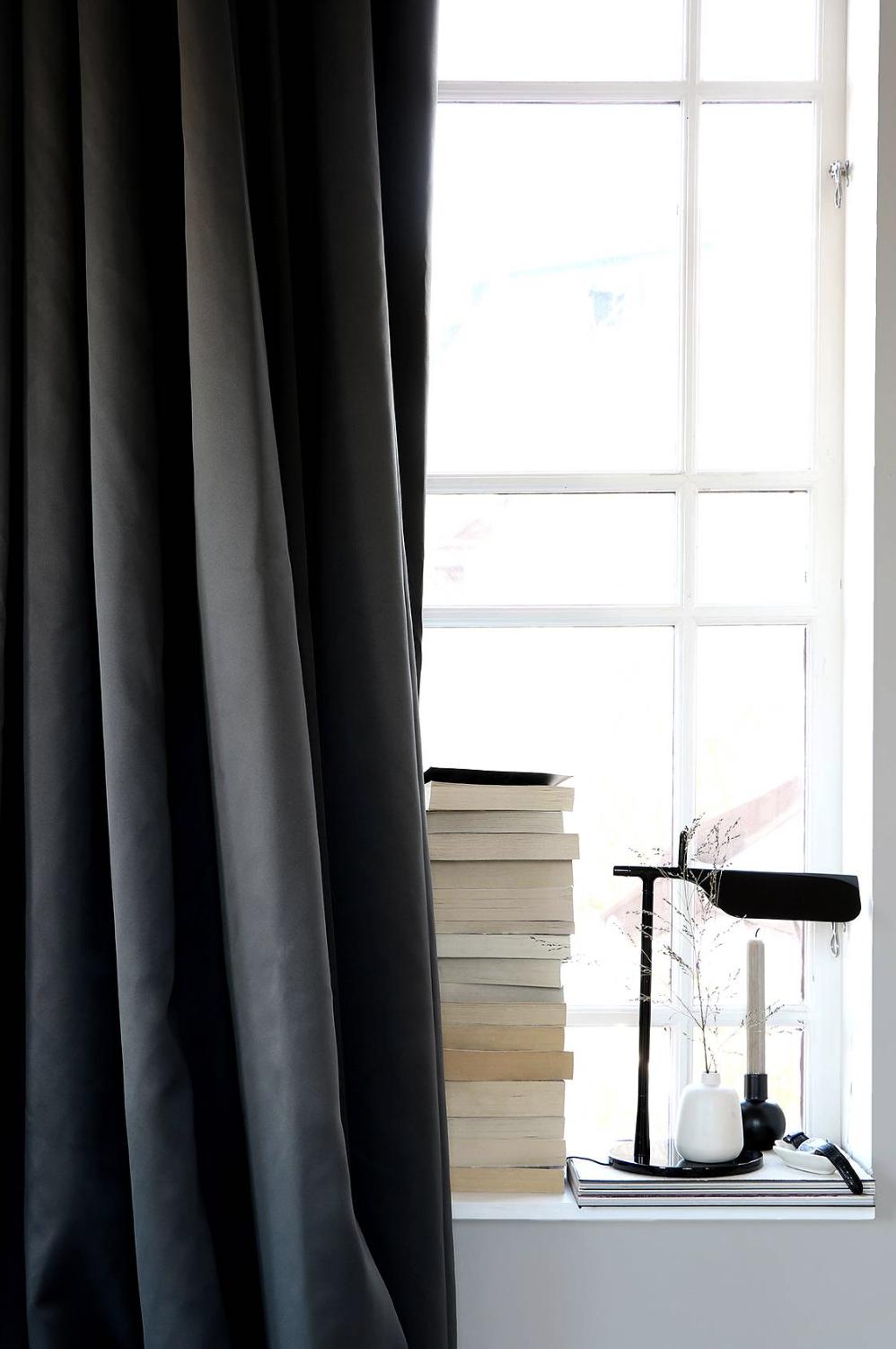 Mörkläggande Hotellgardin 290x250 cm, Kolgrå