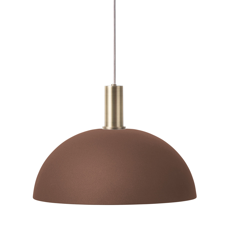 Ferm Living-Dome Pendel Lav, Rödbrun/Messing