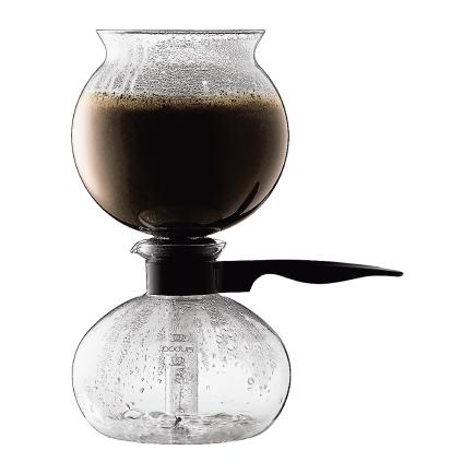 PEBO Vakuum Kaffebryggare 8 Koppar, Svart