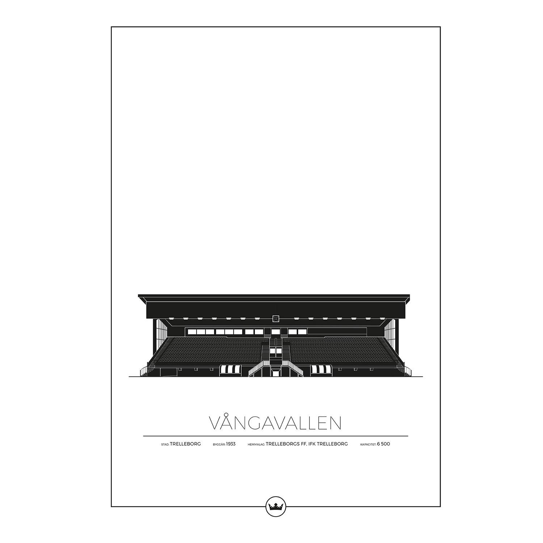 Vångavallen Trelleborg Poster 50x70cm