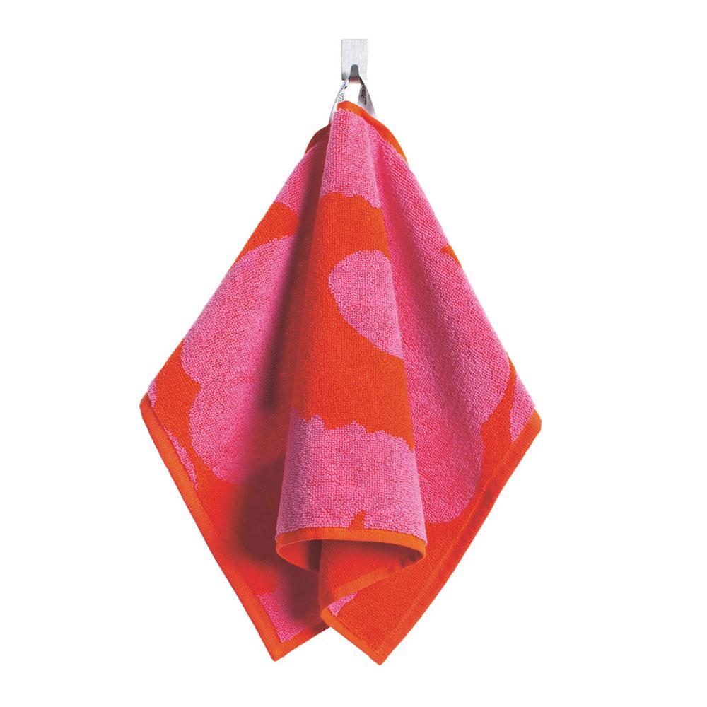 Marimekko-Unikko Gæste Håndklæde, Rød/Pink