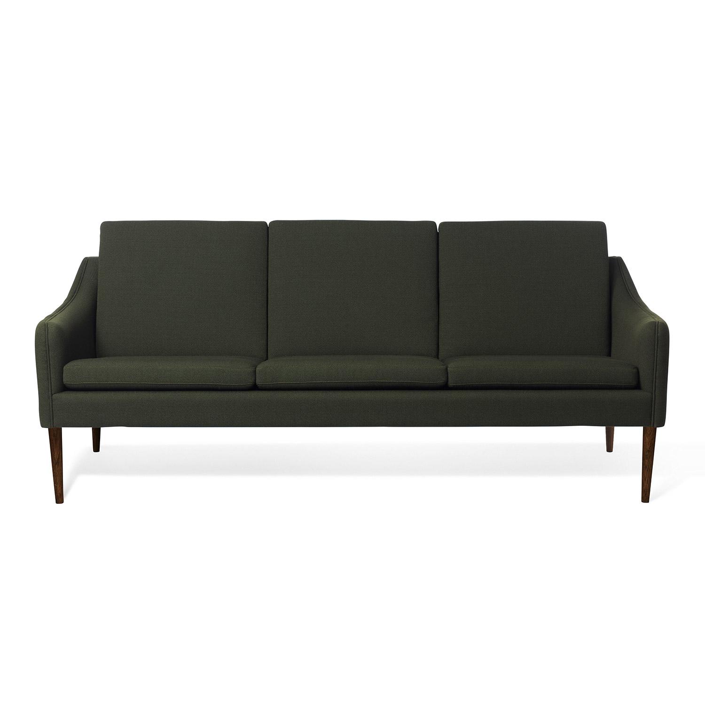 Bilde av Warm Nordic-Mr. Olsen 3-Seters Sofa, Mørkegrønn/Valnøttsoljet Eik