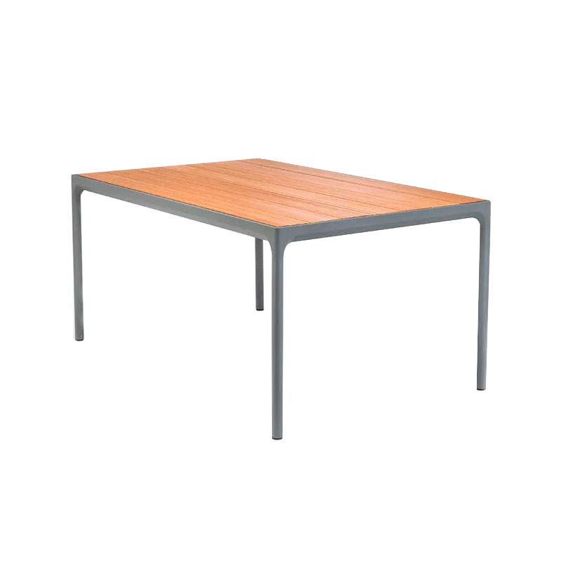 Four Matbord Mörkgrå Aluminium / Bambu Lamell, ...