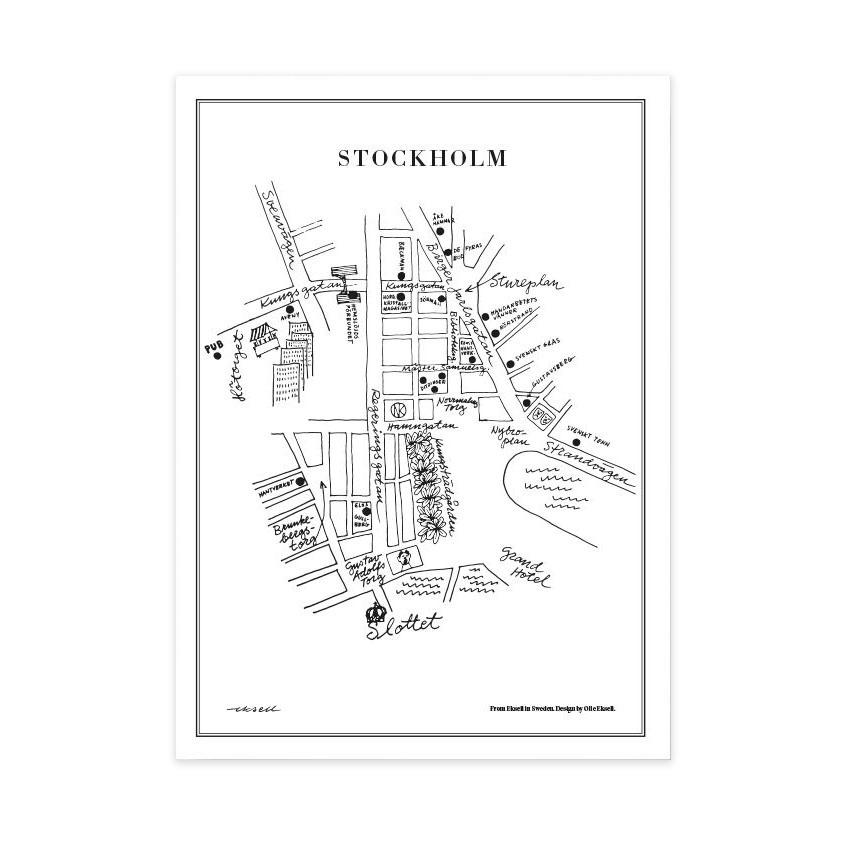 Stockholm Poster 50x70 cm
