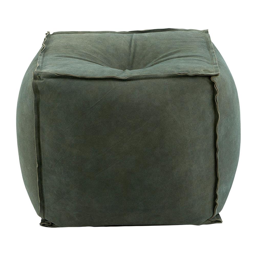 Suede Sittpuff, Grön
