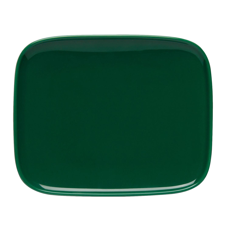 Oiva Tallrik, 15x12 cm, Grön