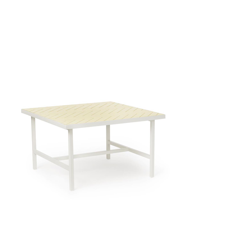 Bilde av Warm Nordic-Herringbone Tile Sofabord, Butter Yellow