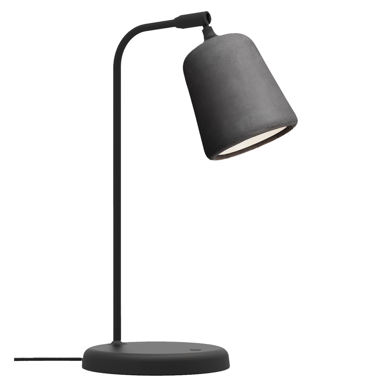 Material Bordslampa, Mörkgrå Betong
