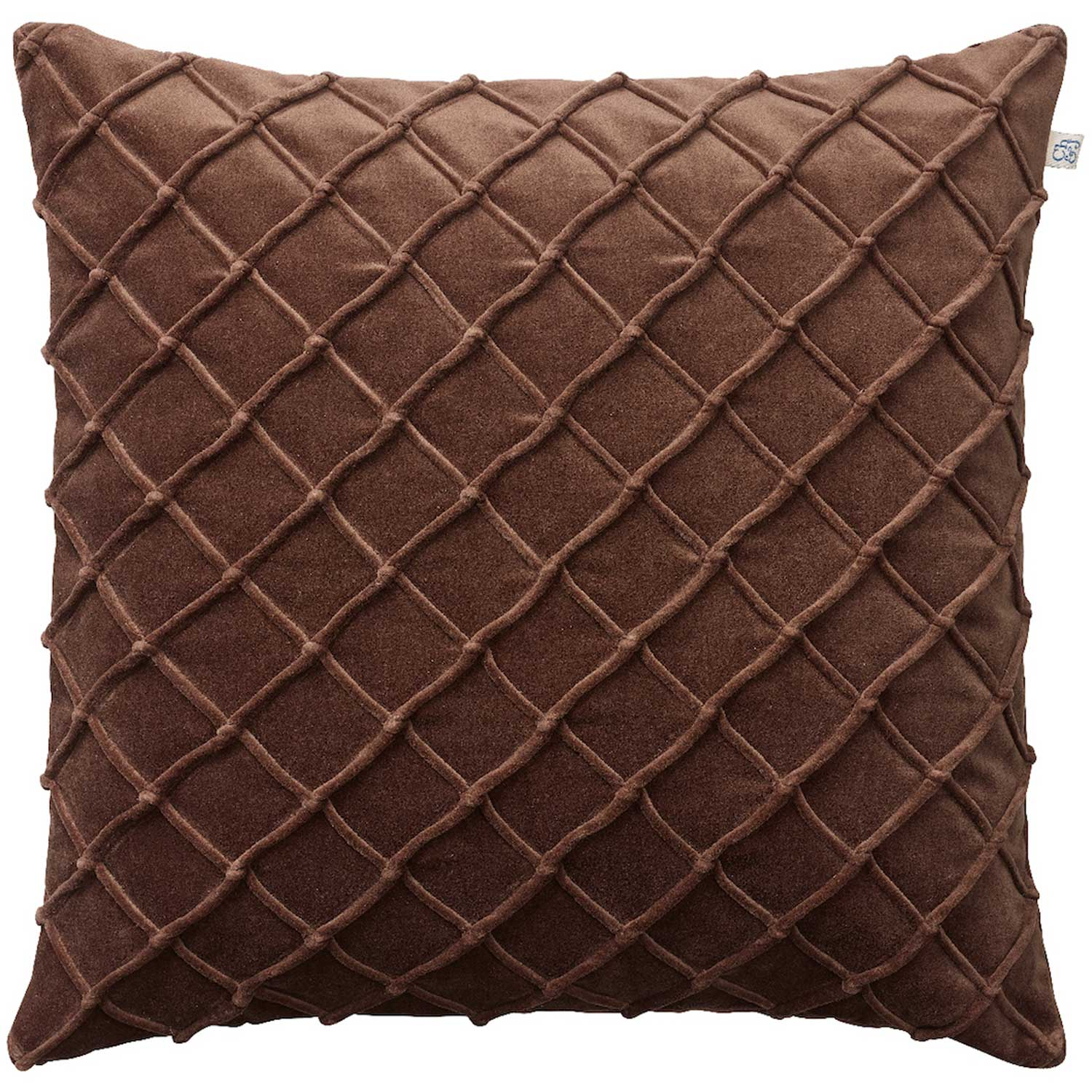 Deva Cushion Cover 50×50 cm Brown