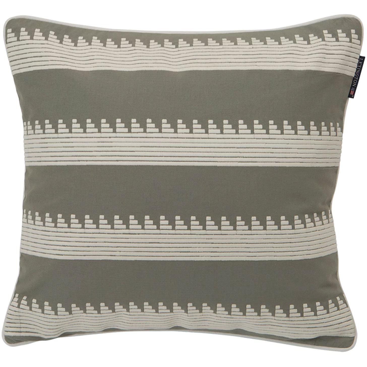 Bilde av Lexington-Embroidery Striped Stram, 50x50 cm