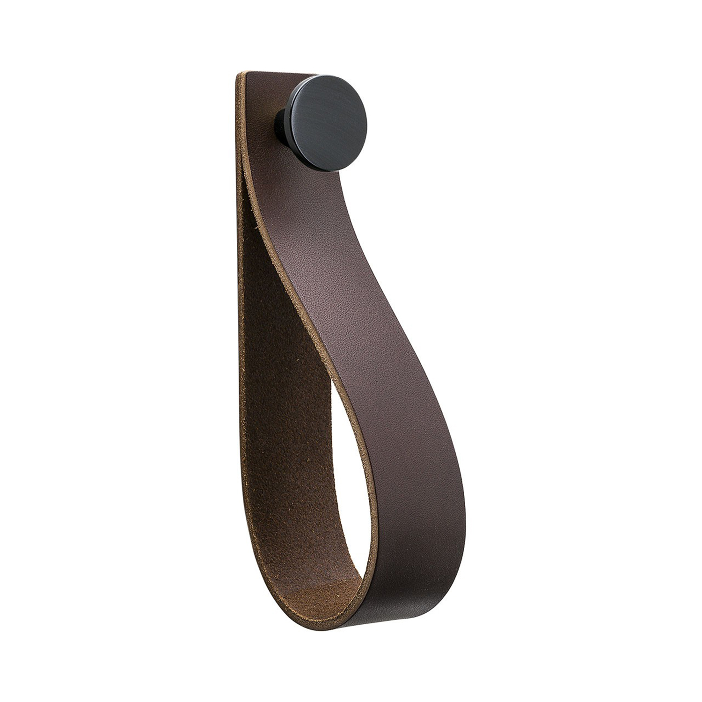 Beslag Design Loop Strap Krok, Brun/Svart