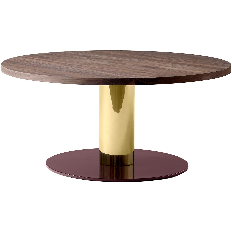 Bilde av &Tradition-MEZCLA JH20 Table Ø 80, Walnut/brass/Red