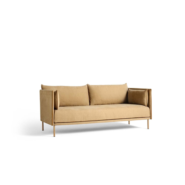 Bilde av Hay-Silhouette Sofa 2 Seater, Linara 142/Cognac Piping/Oak