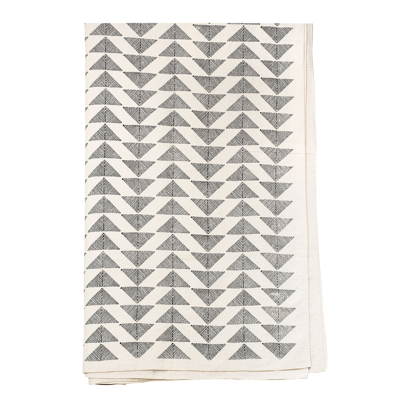 Pyramid Överkast 250x270 cm, Svart/Vit
