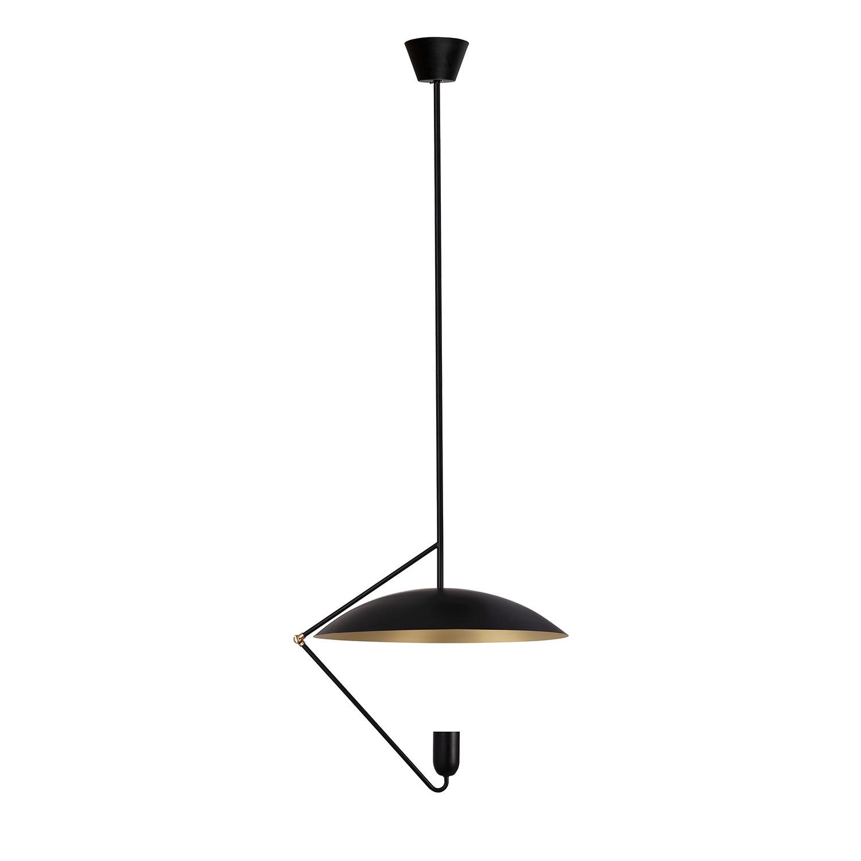 Globen Lighting-Undercover 50 Pendel, Sort/Børstet messing