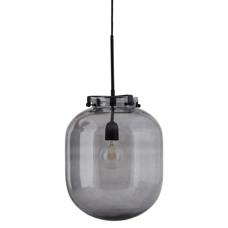 Ball-Jar Taklampa 30 cm, Rökgrå