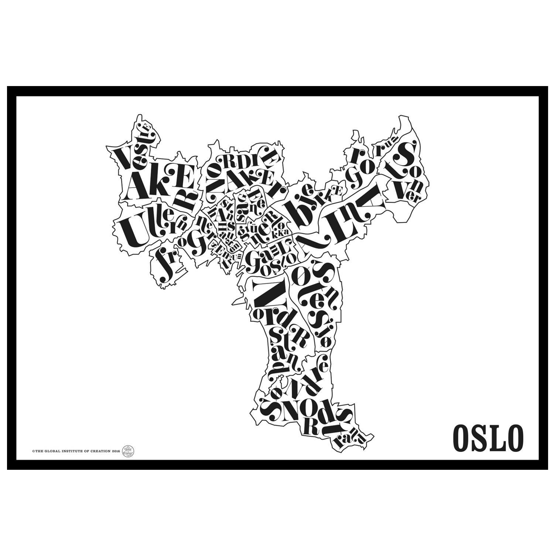 Oslokarta Poster