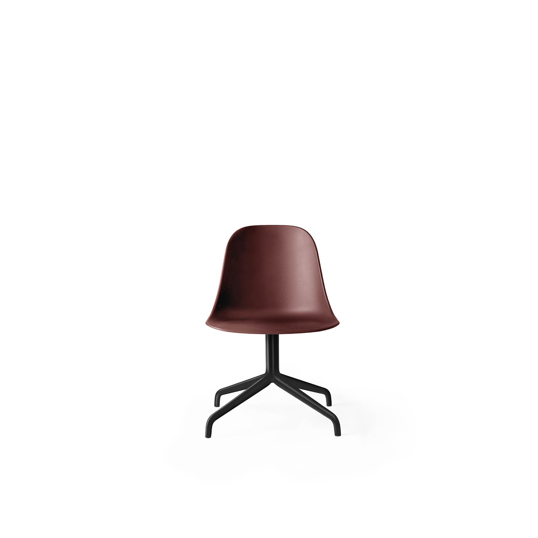 Harbour Side Chair, Black Swivel/Burned Red Shell