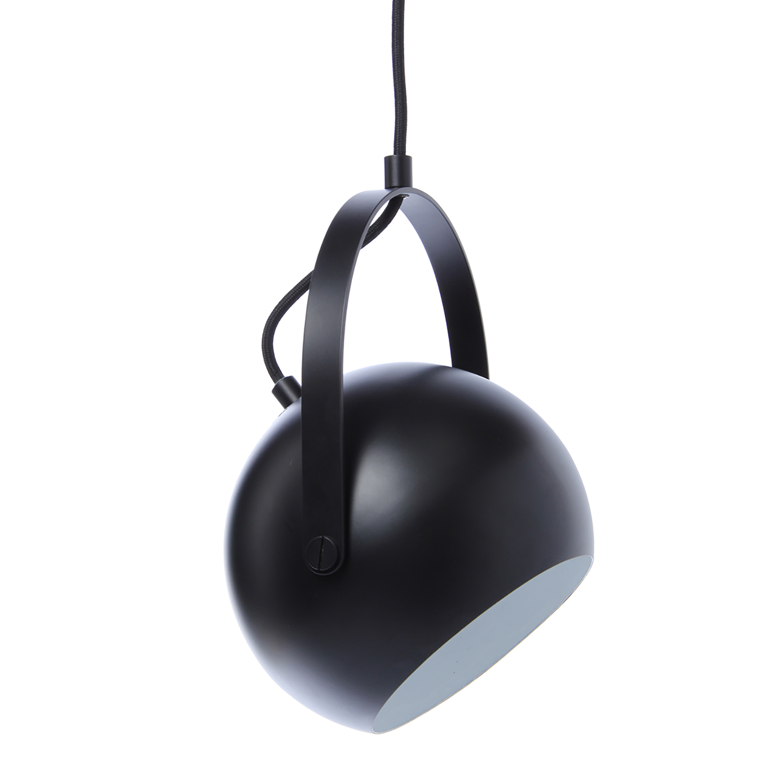 Bilde av Frandsen-Ball metal Ceiling pendant Ø18 cm with handle, Matt Black