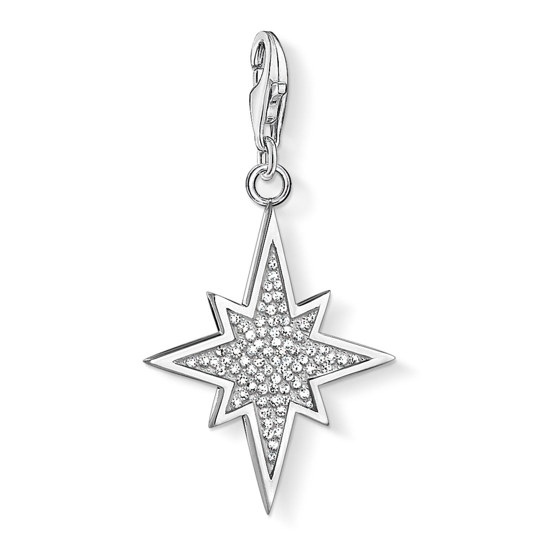 Charm Club Berlock Glittrande Stjärna, Silver
