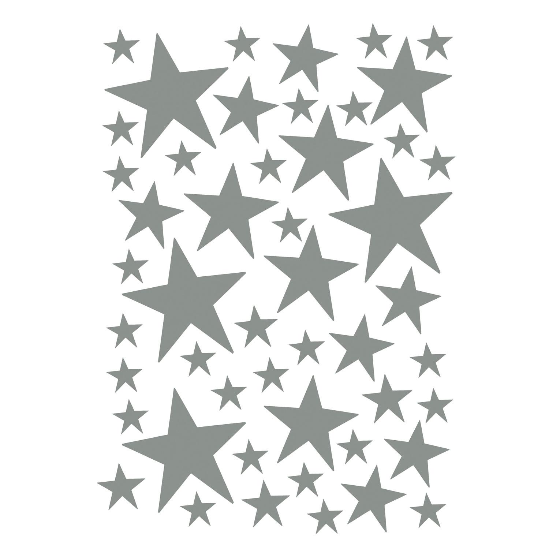 Mini Stars Väggdekor, Grå