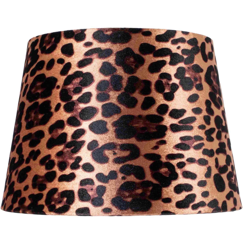 Leopard Lampskärm, Rund/Rak