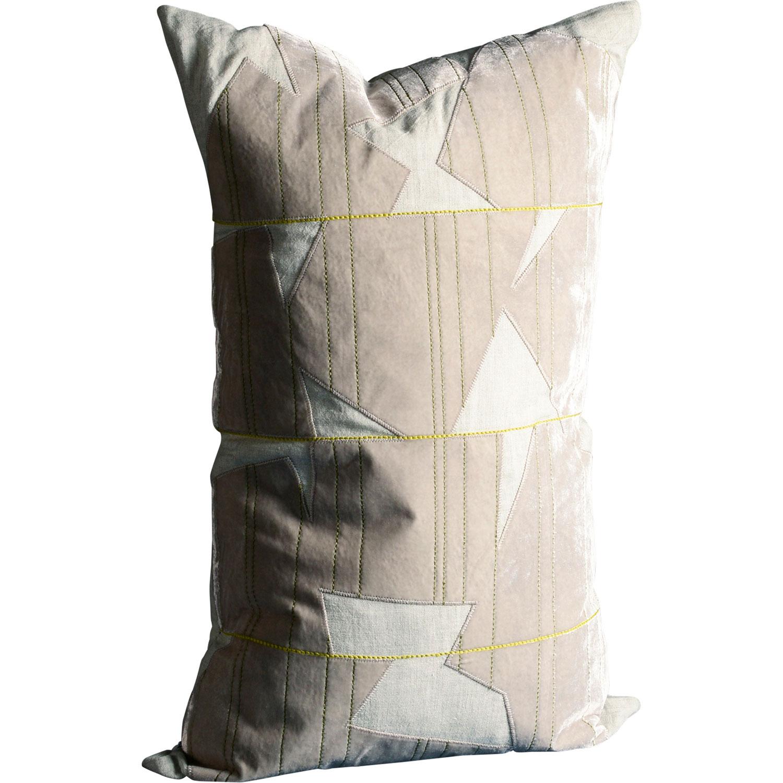 Bilde av Dirty Linen-Patchy Cushion Cover 40x65 cm, Moon