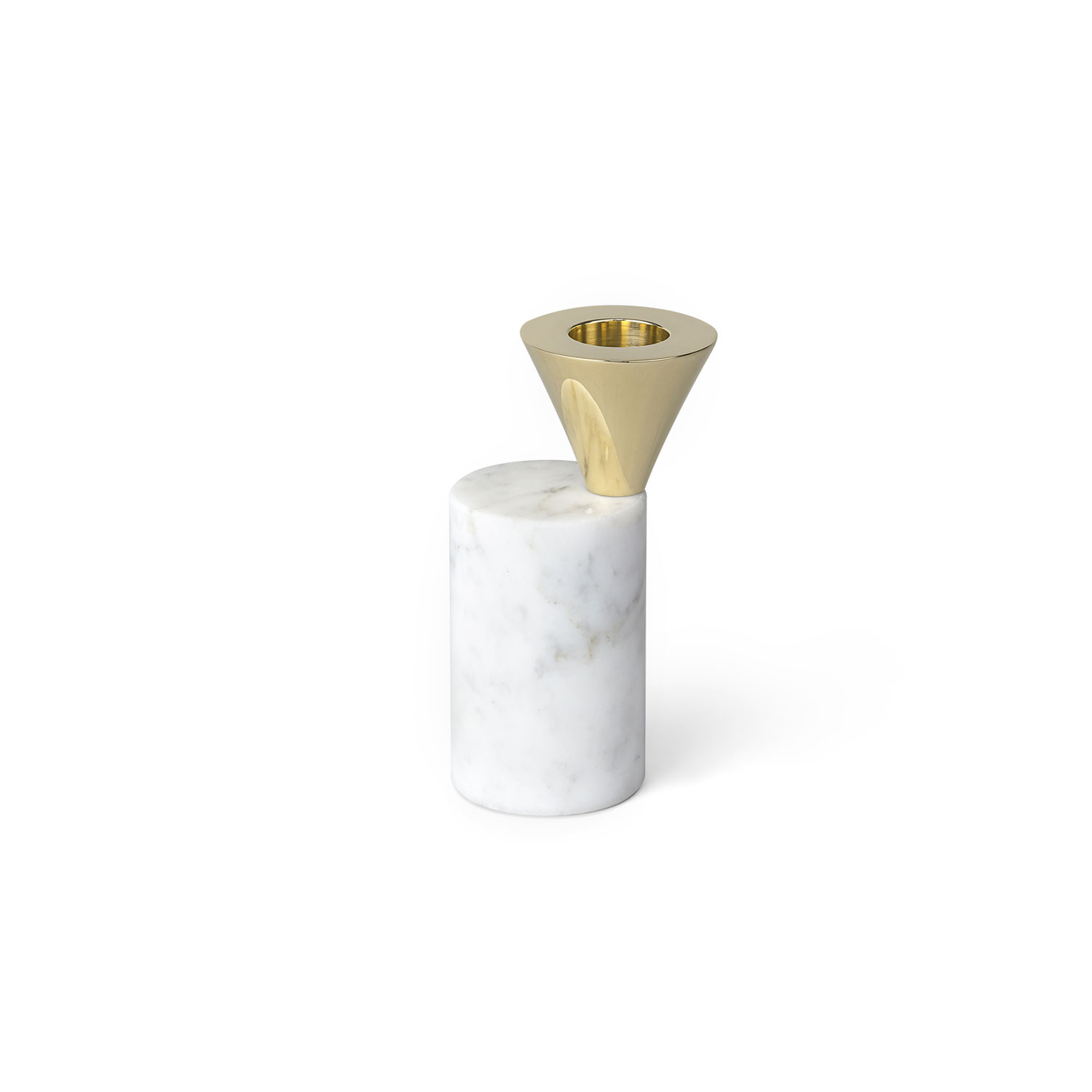 Skultuna-Streamers Candle Holder 70 B, White Marble