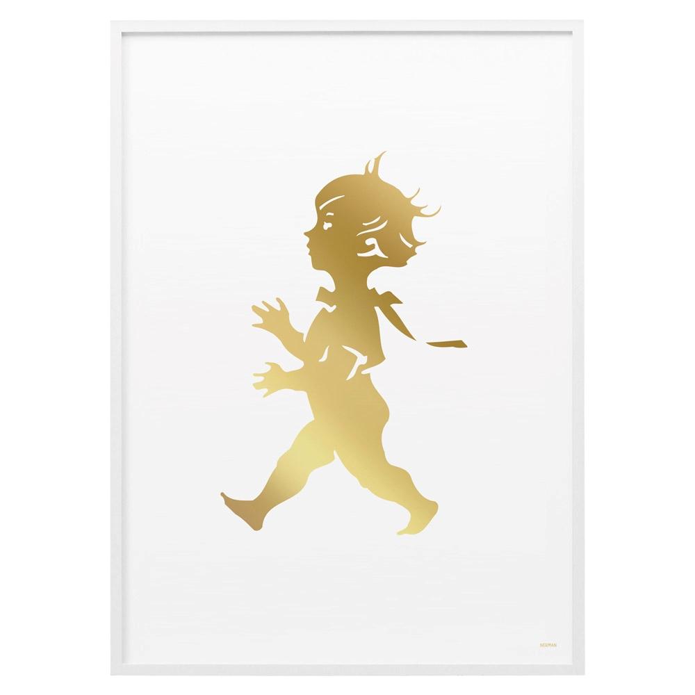 Solstickan Poster 50x70 cm, Guld/Vit